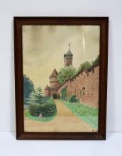 Augustin, Isaac MARCOT       :   Une entrée de Château du Haut-Koenigsbourg