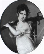 Nicolas-Antoine DUMONT       :  Portrait présumé d'Hortense de Beauharnais