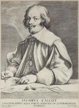 Lucas VOSTERMAN       :  Portrait de Jacques CALLOT d'après Van Dyck