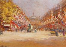 Albert-Léopold PIERSON       :   L'avenue de l'Opéra un 14 juillet   et  Le jardin