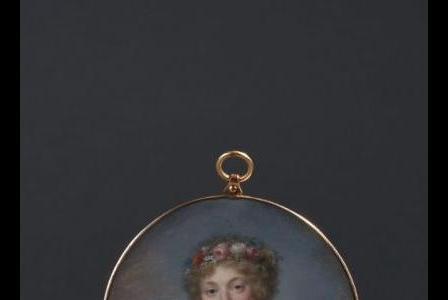 Jean-Baptiste AUGUSTIN       :  Jeune femme couronnée de fleurs