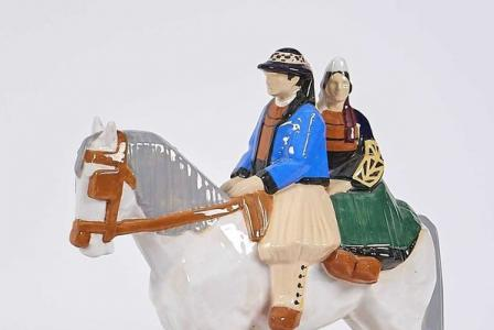 Emile-Just BACHELET       :            Mariés biigoudens à cheval