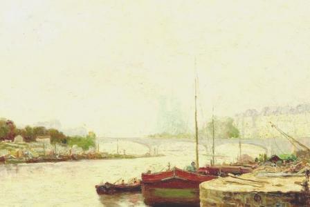 Léon BAROTTE       :   Embarcadère derrière Notre Dame