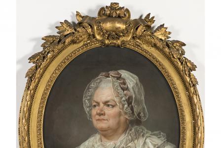 Joseph DUCREUX        :  Portrait de la mère de l'artiste