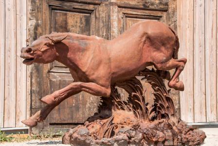 SANSONETTI-GALLIARD       :  Cheval en plein galop