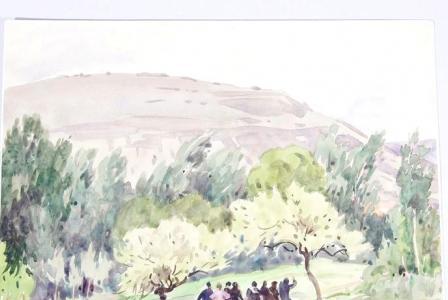 Léon HUSSON       :  Arnaville, promenade du Lundi de Pâques