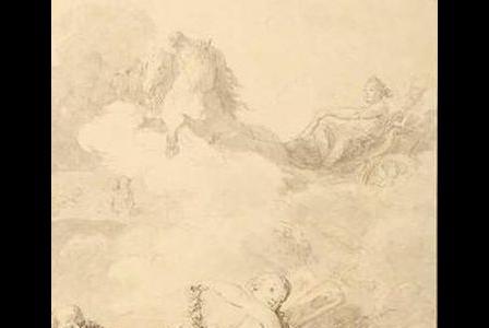 Jean-Baptiste LE PRINCE       :  Projet de frontispice pour les Saisons de Saint Lambert