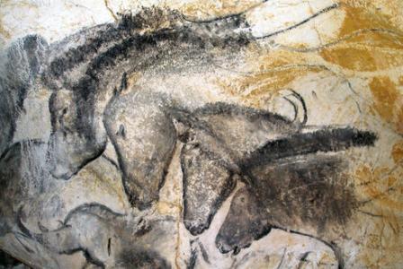 La fresque des chevaux.