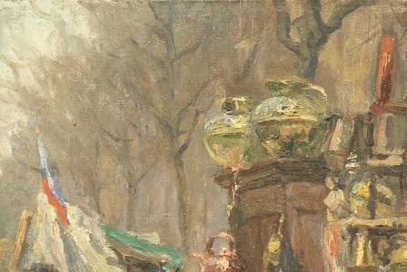 Albert Léopold PIERSON       :  Marché parisien