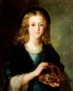 """Delphine BERNARD   """"Jeune fille au coffret à bijoux"""""""