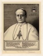 "René GODARD  ""Portrait du Pape Pie XI"""