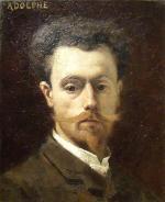 """Adolphe LA LYRE  """"Autoportrait"""""""