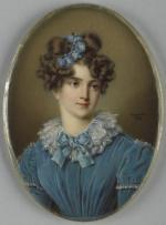"""André-Léon LARUE  """"Portrait de jeune femme"""""""