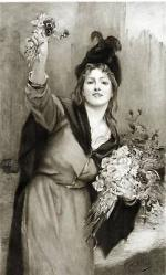 "Lucien QUARANTE  ""A London flower girl"""