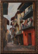Raoul TONNELIER       :  Rue à Fontarabie - Pays basque