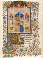 ECOLE LORRAINE du XVème siècle       : Miniature de livre d'heures