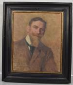 Emile FRIANT         :           Portrait du peintre Edmond Lombard