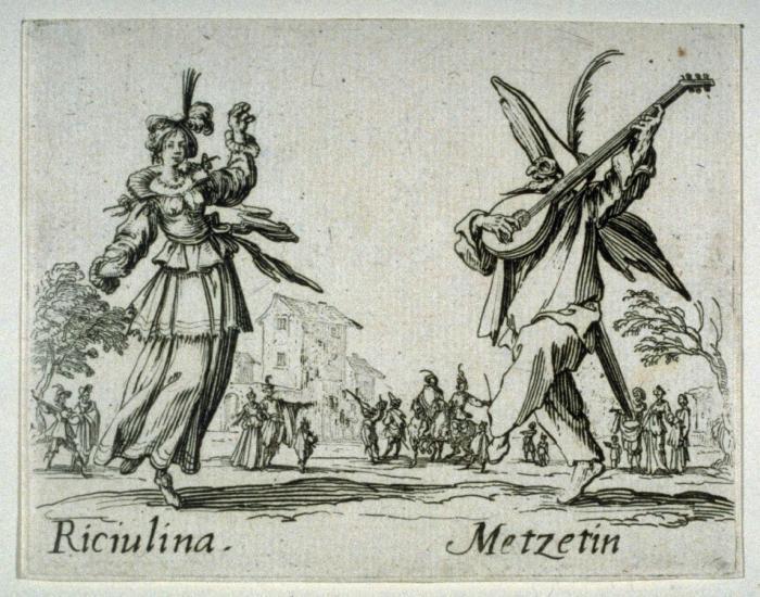 Jacques CALLOT       :  Personnages de la Comedia dell'Arte florentine