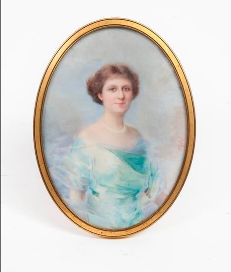 Jeanne CONTAL       :  Portrait d'élégante.