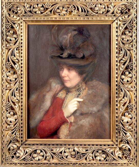 Emile FRIANT       :  Portrait de Madame Paul.