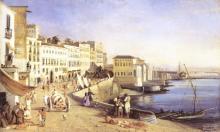 """Félix FOUILHOUZE  """"Le port de Naples"""""""