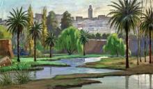 """William BIEHN  """"Vue de Meknès"""""""
