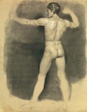"""François Joseph DEUTSCH  """"Académie d'homme nu"""""""