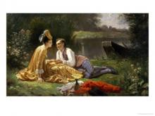 """Auguste Hadamard   """"Le pique-nique des amoureux"""""""