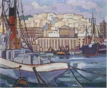 """Antoinette HENTZ  """"Le port d'Alger"""""""