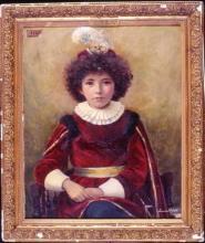"Louise HUBERT  ""Le petit page"" 1898"