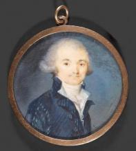 """François JAQUEMIN  """"Portrait de Robespierre"""""""