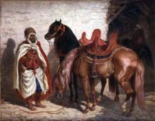 """François Hippolyte LALAISSE  """"Chevaux arabes"""""""