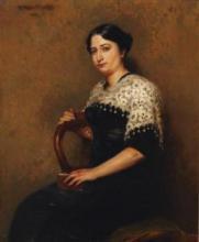 """Germaine LANTOINE-NEVEUX  """"Portrait de Louise Champier"""""""