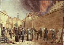 """Paul LAURENT  """"Scène du siège de Soissons"""""""