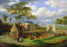 """Joseph Louis LEBORNE  """"Porte de Valenciennes à Douai"""""""