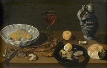 """Abraham LEROY  """"Déjeuner aux harengs"""""""