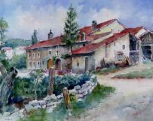 """Marcel LEVIEUX   """"Evaux  (Vosges)"""""""