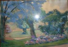 """Alfred LEVY  """"Le parc de la Pépinière à Nancy"""""""