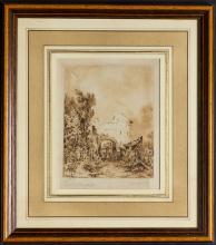 """Auguste MENNESSIER  """"La vieille porte"""""""