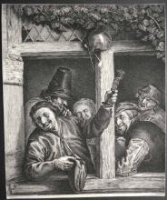Jean-Jacques de CLAUSSIN       :  Les buveurs d'après Van Ostade