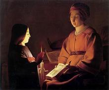Etienne de LA TOUR       :  L'éducation de la Vierge