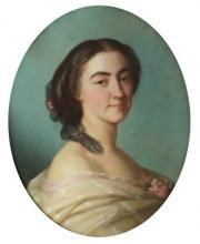 """Louis Stanislas FAIVRE-DUFFER  """"Portrait d'une dame de qualité"""""""