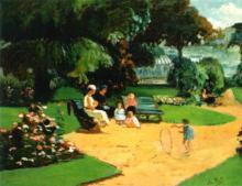 Alice WEILL       :  Au jardin public