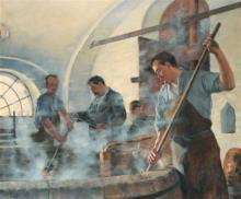Eugène DECISY       :  Le démélage, brasseurs à Béthencourt