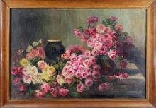 """Aline GILLARD  """"Nature morte aux roses"""""""